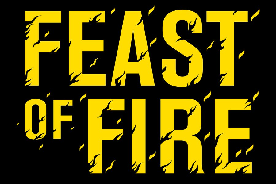 Feast of fire logo yellow on black.jpg